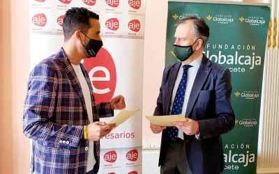 Fundación Globalcaja Albacete y Aje Albacete suscriben un convenio de colaboración para desarrollar acciones de apoyo al emprendimiento empresarial.
